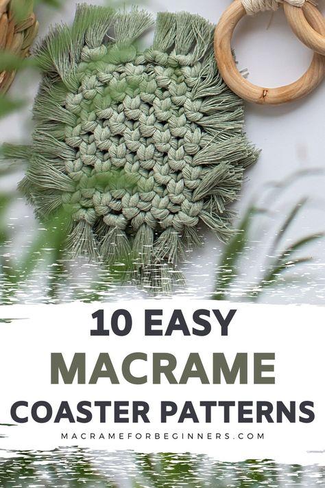 12 Easy Boho DIY Macrame Coasters | Macrame for Beginners