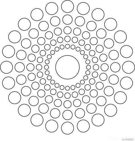 Aboriginal Free Coloring Pages Mandala Design Pattern Dot Art Painting Mandala Stencils
