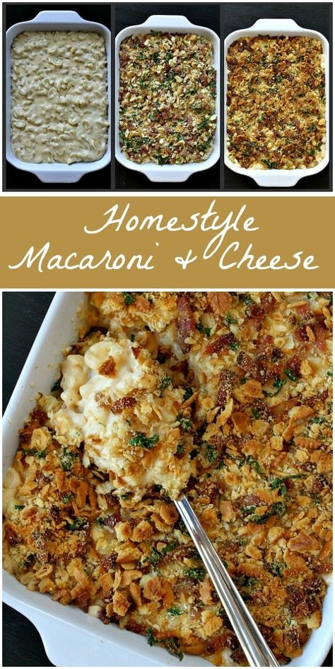 Homestyle Baked Macaroni And Cheese Recipe Bacon Recipes