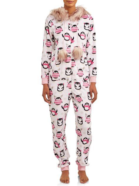 Disney Stitch Womens Thermal Pajama Set with Eye Mask