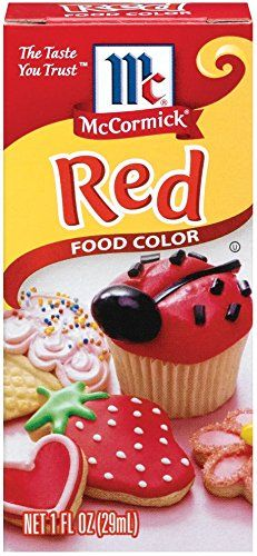 Mccormick McCormick Red Food Color 1 fz Pack of 6 * For more ...