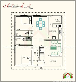 1700 Square Feet House Plan In Contemporary Model Elevation Architecture Kerala House Plans With Photos House Plans Indian House Plans