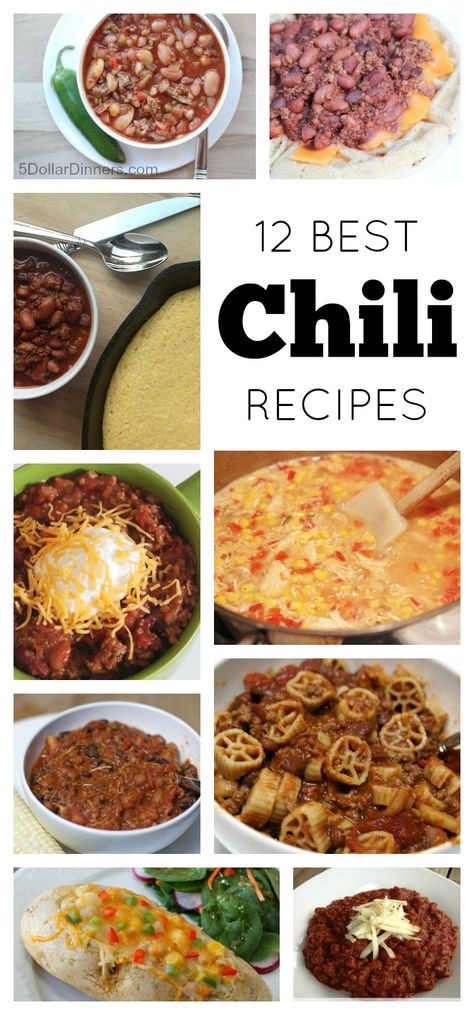 There is nothing that celebrates the taste of fall more to me than a good bowl of chili!  Check out my 12 Best Chili Recipes   5DollarDinners.com