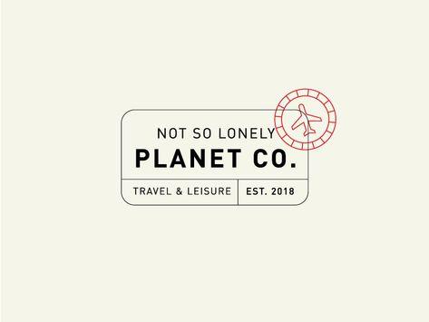 Travel Logo / #1 badge icon branding stamp passport flight plane travel