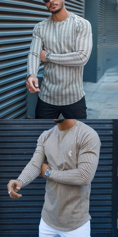 Stylish striped men's T-shirt