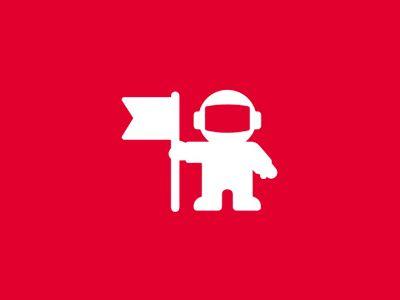 Astronaut Explorer Logo Design Symbol Identity Design Logo Graphic Design Blog Logo Design