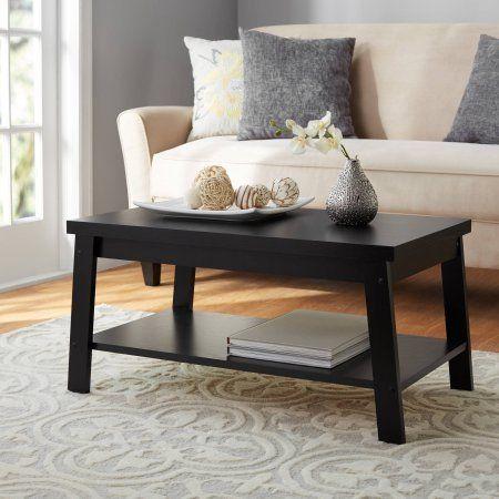 Mainstays Logan Coffee Table True Black Oak Coffee Table