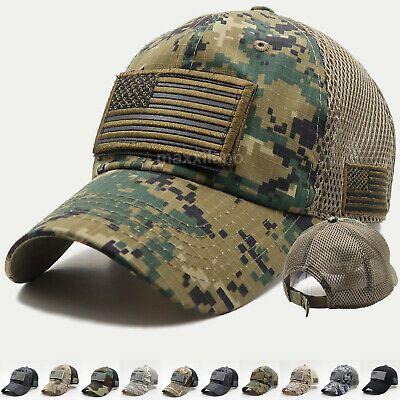 Usa American Flag Hat Detachable Patch Cotton Baseball Mesh Military Army Cap Ebay American Flag Hat Flag Hat Hats