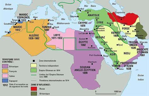 Le Proche-Orient en 1914, par Philippe Rekacewicz (Le Monde diplomatique, août 1992)