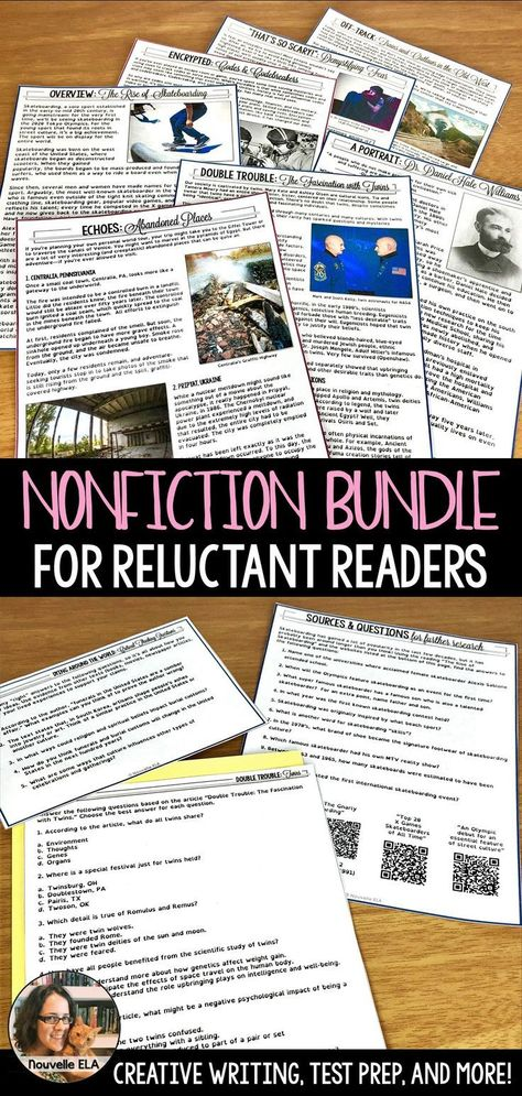 Nonfiction Bundle - Engaging Readings for 8th & 9th grade - Nouvelle ELA Teaching Resources