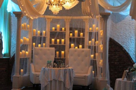 We believe that every #newlywed couple deserves to have a stunning sweetheart table to sit at. Isn't this one beautiful 💕? . . . . . #sweethearttable #weddingtables #weddingcandles #weddingdecorations #nycweddings #villarusso #nycvenues #gettingmarried #justmarried #weddingplanning