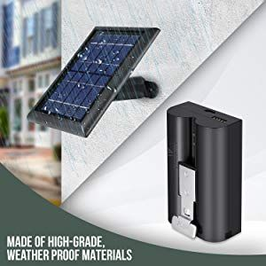 One Solar Panel To Charge Your Ring Cameras With Our Solar Panel For The Ring Spotlight Cam Battery And Ring Stick U Solar Panels Solar Panels For Home Solar