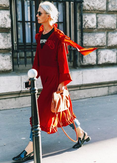 Listen VERY carefully. From every press day and every street style image bank weve paid attention to the dress-over-jeans look is going to be stronger than ever.