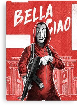 La Casa De Papel Money Heist Bella Ciao Dali Mask Canvas