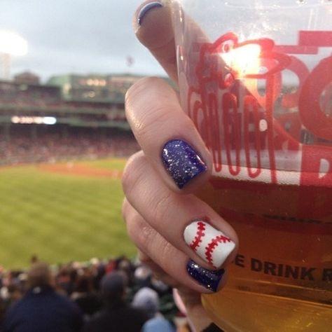 softball nail art   baseball nails   Tumblr