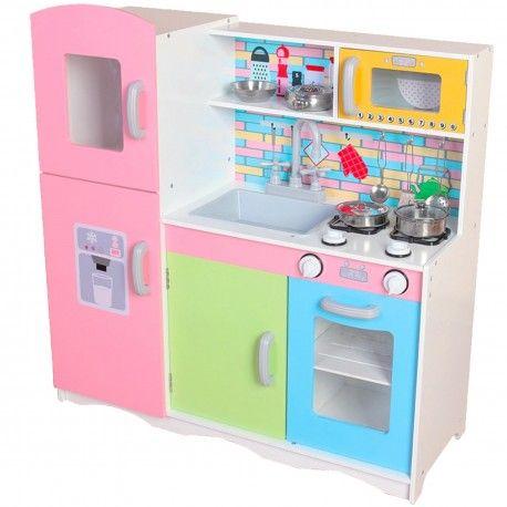 Drewniana Kuchnia Dla Dzieci 86 Cm Z Wyposazeniem Kids Play Toys Play Kitchen Accessories Kids Pretend Play Toys