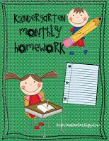 Monthly homework- conserve paper but keep the writing activities and family involvement!!! 2 Crazy Texas Teachers