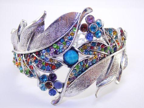 Joe Cool Bangle Inlaid Crystals Made with Enamel