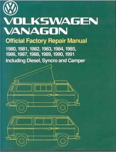 This Is The Most Complete Service Repair Manual For The 1980 1991 Vw Volkswagen Vanagon Factory Repair Manual Download Repair Manuals Volkswagen Vw Volkswagen