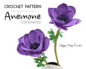 Crochet Pansy Pattern Crochet Flower Pattern For Pansy Etsy In 2020 Crochet Flower Patterns Crochet Flowers Crochet Rose Pattern