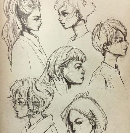 Hair Drawing Side Character Design 32 Ideas For 2019 Face Drawing Side Face Drawing Face Side View Drawing