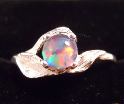 Sterling Silver Fire Opal ring by RedQueenGems on Etsy, $75.00