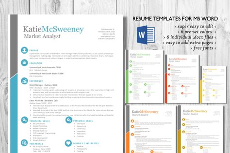 Blue photograph resume template Template, Cv template and Resume cv