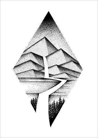 Pointillism Geometric Nature Art Geometric Nature Geometric Art
