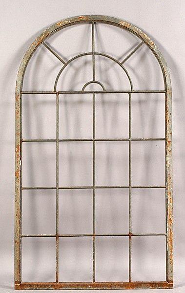 525 Vintage Iron Arched Top Palladian Window Frame Nov 20 2010