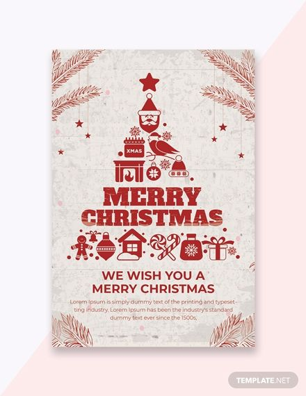Make Christmas Invitations Easily By Downloading Our Free Premium Christm Christmas Greeting Card Template Free Greeting Card Templates Christmas Card Template