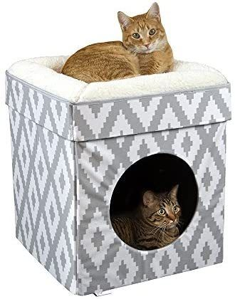 Kitty City Large Cat Bed Stackable Cat Cube Washable Bed Indoor Cat House Cat Condo Diy Cat Bed Cat Bed Cat Cube