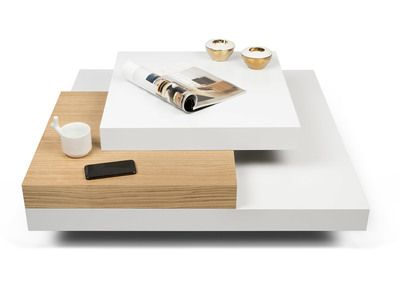 Table Basse Temahome Sur Delamaison Avec Images Table Basse Blanche Et Bois Table Basse Table Basse Blanche