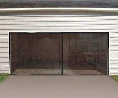 Bug Screen For Double Sized Garage Door In 2020 Garage Screen Door Double Garage Door Garage Doors