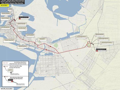 Abu Dhabi airport bus map | abu dhabi bus map | Pinterest | Bus map ...