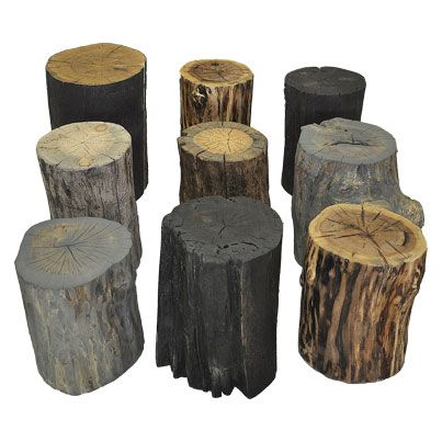 Salvaged Toronto Log Rounds Tree Stumps And Side Tables Created From Permit Felled Trees By Uts Live Edge Wood Table Tree Stump Table Live Edge Dining Table