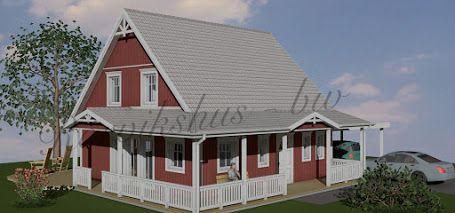 Schwedenhaus mit veranda  Schwedenhaus mit amerikanischer Veranda | Minihaus | Pinterest ...
