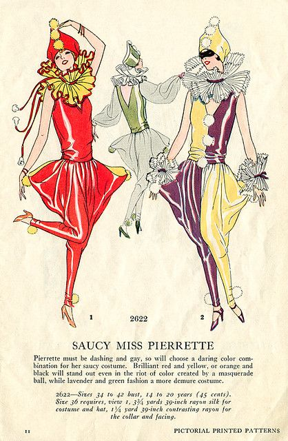 Masquerade Patterns - Saucy Miss Pierrette Native American Halloween Costume, Couple Halloween Costumes, Halloween Couples, Disney Costumes, Adult Costumes, Vintage Costumes, Vintage Outfits, Adult Mickey Mouse Costume, Pierrot Clown