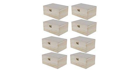 8 Pieces Plain Unfinished Natural Wood Jewellery Box Keepsake Trinkets Organizer Box Art Painting Craft K In 2020 Wood Jewelry Box Kids Painting Crafts Painting Crafts