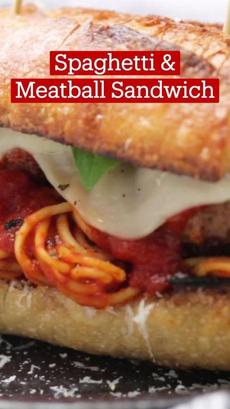 Spaghetti & Meatball Sandwich
