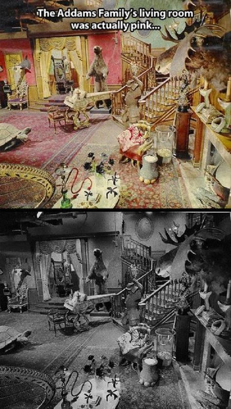 The Addams Family Mansion Is Scarier In Black & White!