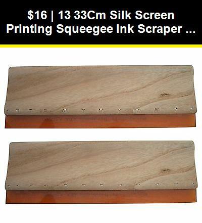"""13/"""" Screen Printing Squeegee Ink Scraper Silk Stencil Printing DIY 75 Durometers"""