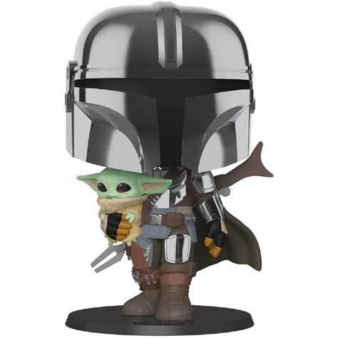Star Wars The Mandalorian Mandalorian Con Armatura Cromata 10 25cm Figura Funko Pop Vinyl Pop In A Box It Funko Pop Star Wars Funko Pop Funko Pop Vinyl