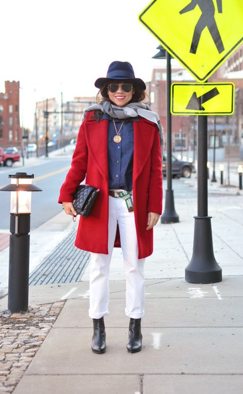 Big On Style My Small Wardrobe Small Wardrobe Red Wool Coat Clothes