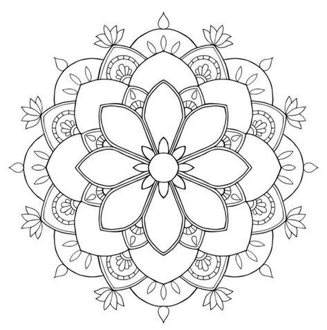 190 Mandalas Para Colorear Para Ninos Mandalas Para Colorear