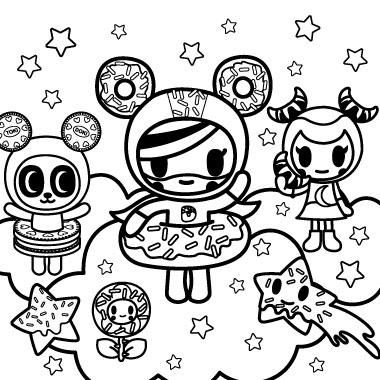 Coloring Pages Tokidoki In 2021 Coloring Pages Create This Book Tokidoki Characters