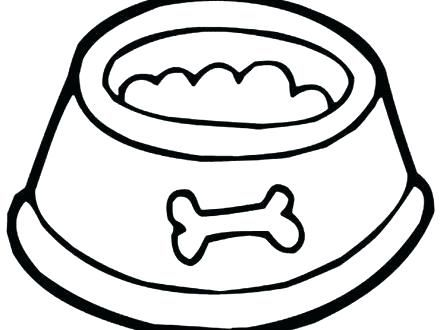 Dog Bone Coloring Page Dog Bone Coloring Page Dog Bowl Coloring