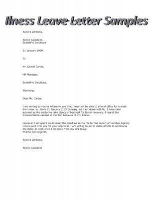 Sample of Illness Leave Letter #stepbystep Books \ Literature - leave letter samples