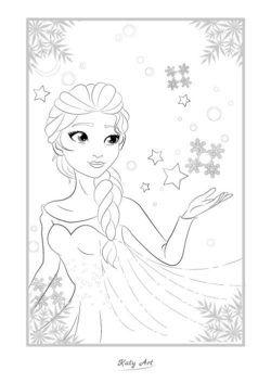 New Elsa From Frozen Dengan Gambar Buku Mewarnai Warna Gambar