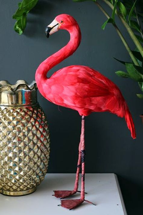 tropical furniture flamingo Airy Interior With Tropical Ideas