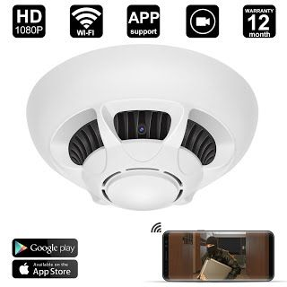 Features Benefits Wifi Spy Camera Detector Digihero Hd 1080p Camera Smoke Detector Security Camera With Live Viewing And Recording Motion Activated On Ios A